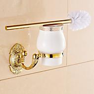 Vécékefe tartó / Fürdőszobai kütyü,Neoklasszikus Ti-PVD Falra rögzített