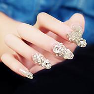 24PCS Fashion Jewel Decorate Nail Tips