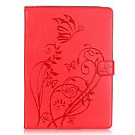 Cuerpo Completo billetera / Soporte de Tarjeta / Other Flor Cuero Sintético Suave Embossed leather Cubierta del caso para Apple iPad Air