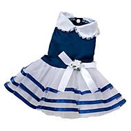 犬用品 ドレス レッド / ブルー / ピンク 犬用ウェア 夏 蝶結び
