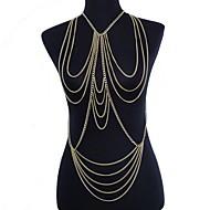Damskie Biżuteria Łańcuszek na brzuch Łańcuch nadwozia / Belly Chain uprząż Naszyjnik Pozłacane Frędzle Sexy Bikini przejście Modny Gold