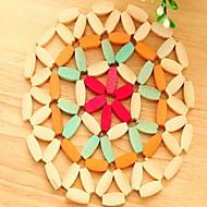 Pyöreä Placemats Coasters , Bambu materiaali