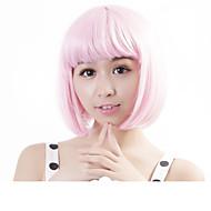 """neitsi 100% Kanekalon szál 14 """"(35cm) 160g / db női lány cosplay rövid szintetikus Bob haj parókák rózsaszín"""