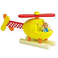 gul helikopter træ magnetisk bygning legetøj