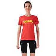 ספורטיבי אופנייים/רכיבת אופניים חולצה+שורטס / צמרות / תחתיות לנשים שרוול קצר נושם / תומך זיעה אלסטיין ספורטיבי S / M / L / XL / XXL / XXXL