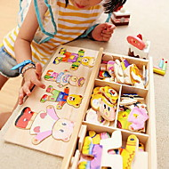Wooden Children'S Early Education Quality Hand Grasp Dress Matching Puzzle