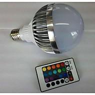10W E26/E27 Ampoules Globe LED G80 1 LED Haute Puissance 700-900 lm RVB Commandée à Distance AC 85-265 V 1 pièce