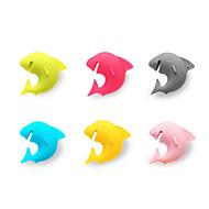 6stk haj fest dedikeret sugekop vin glas silikone label gummi vinglas genkendelse markør (tilfældig farve)