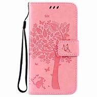 Per Samsung Galaxy Custodia A portafoglio / Porta-carte di credito / Con supporto Custodia Integrale Custodia Tinta unita Resistente