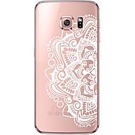 Varten Samsung Galaxy S7 Edge Läpinäkyvä / Kuvio Etui Takakuori Etui Mandala Pehmeä TPU Samsung S7 edge / S7 / S6 edge plus / S6 edge / S6