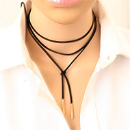 Necklace Choker Necklaces Tattoo Choker Jewelry Daily Casual Fashion Alloy Leather 1pc Gift Gold Black