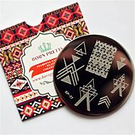 Nail Art Stempelen Plate Stamper schraper 6*6*0.1