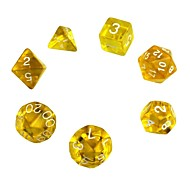 Exquisite Polyhedral Acrylic Dice (7 PCS)