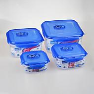 4 Keuken Kunststof Lunchtrommels