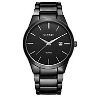Men's Watch Dress Watch Calendar Casual Watch Steel Band Black Cool Watch Unique Watch Fashion Watch