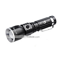 U`King® Linternas LED / Clips y Soportes LED 1000LM Lumens 3 Modo Cree XM-L T6 14500 / AARegulable / Enfoque Ajustable / Recargable /
