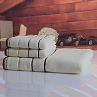 목욕 타올 세트 브라운 화이트,염색된 실 고품질 100% 면 수건