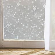raamfolie raamstickers stijl Kerstmissneeuwvlok matte pvc glasfolie - (100 x 45) cm