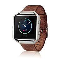 Kawowo / Brązowy Skóra Klasyczna klamra / Bransoletka skórzana Na Fitbit Zegarek 23mm