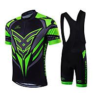Sportivo Maglia con salopette corta da ciclismo Per uomo / Unisex Maniche corte BiciclettaTraspirante / Asciugatura rapida / Zip