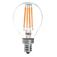 4 E14 LED 글로브 전구 G45 4 COB 380 lm 따뜻한 화이트 방수 AC 220-240 V 1개