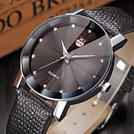 Masculino Relógio de Moda Quartz / Couro Banda Pendente Preta / Azul / Marrom marca