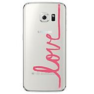 Για Samsung Galaxy S7 Edge Διαφανής / Με σχέδια tok Πίσω Κάλυμμα tok Λέξη / Φράση Μαλακή TPU SamsungS7 edge / S7 / S6 edge plus / S6 edge