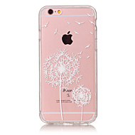 TPU Material Dandelion Pattern Painted Relief Phone Case for iPhone 6s Plus / 6 Plus/SE / 5s / 5