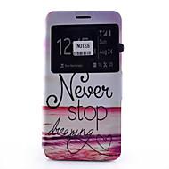 Na Samsung Galaxy Note Etui na karty / Z podpórką / Z okienkiem / Flip / Wzór Kılıf Futerał Kılıf Napis Miękkie Skóra PU SamsungNote 5 /
