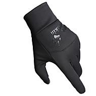 Cycling Gloves / Ski Gloves / Touch Gloves Winter Gloves Unisex Keep Warm Ski & Snowboard Black Canvas Free Size