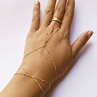 Ring Bracelets 1pc,Fashionable Line Golden Alloy Jewelry Gifts