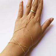 Dame Ring Bracelets La modă stil minimalist Ștrasuri Cute Stil Aliaj Line Shape Auriu Bijuterii Pentru Zilnic Casual 1 buc