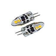 3W G4 LED Bi-pin 조명 T 4 SMD 2835 200-350 lm 따뜻한 화이트 / 차가운 화이트 장식 / 방수 DC 12 / AC 12 / AC 24 / DC 24 / 배터리 V 2개