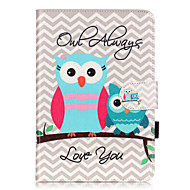 PU Leather Material Owl Embossed  Pattern Tablet Sleeve for iPad mini 1 / 2 / 3