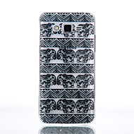 Mert Samsung Galaxy tok Átlátszó Case Hátlap Case Elefánt Puha TPU Samsung J7 / J5 (2016) / J5 / J3 (2016) / Grand Prime / Core Prime