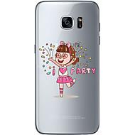 Para Samsung Galaxy S7 Edge Estampada Capinha Capa Traseira Capinha Coração Macia TPU Samsung S7 edge / S7 / S6 edge plus / S6 edge / S6