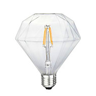 G125 Diamond LED Edison Light Bulb Scene Retro Energy Saving 220V 4W 2300K E27 (Warm Yellow)