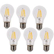 4 E26/E27 LED filament žarulje A60(A19) 4 COB 380 lm Toplo bijelo / Hladno bijelo Ukrasno / Vodootporno AC 220-240 V 6 kom.