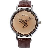 KEZZI 女性用 ファッションウォッチ リストウォッチ カジュアルウォッチ / クォーツ レザー バンド カジュアルスーツ クール ブラック 白 ブルー レッド ブラウン