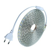18m / 1pcs 220v 5050 leidde flexibele tape rope strip licht xmas buiten waterdicht tuin outdoor lightingeu stekker eu