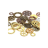 Beadia 100g Aassorted Styles & Colors Alloy Metal Wheel Gear Charm