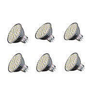 6 pcs GU5.3 5W 60*SMD3528 280LM 3000-3200K Warm/6000-6500K Cold White MR16 Spot Lights AC 220-240 V