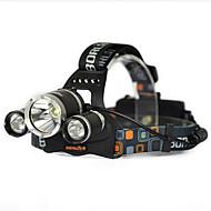 Iluminación Linternas de Cabeza / Correa para Luz de Casco / luces de seguridad LED 10000 Lumens 1 Modo Cree XM-L T6 18650.0Control de