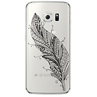 For Samsung Galaxy S7 Edge Transparent / Mønster Etui Bagcover Etui Fjer Blødt TPU SamsungS7 edge / S7 / S6 edge plus / S6 edge / S6 / S5