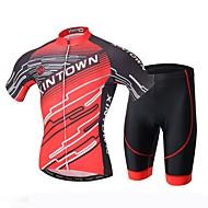 XINTOWN אופנייים/רכיבת אופניים חולצה+שורטס לגברים שרוול קצר נושם / עמיד אולטרה סגול / ייבוש מהיר / תומך זיעה / 3D לוח טרילן / LYCRA® Raita
