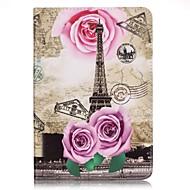 Full Body Card Holder / Wallet Rose Eiffel Tower PU Leather Hard Case Cover For Apple iPad Mini 4 / iPad Mini 3/2/1