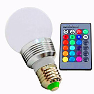 5w E26/E27 Colorful RGB Remote Control Bulb (AC 85-265V)