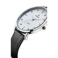 WWOOR Męskie Do sukni/garnituru Modny Zegarek na nadgarstek Kwarcowy Kwarc japoński Wodoszczelny sztuczna Diament Skóra naturalna Pasmo