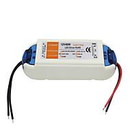 ac 90-240v 0.62a do DC 12V 4a 48W zasilacz diod LED - biały pomarańczowy