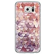 Na Samsung Galaxy S7 Edge Ultra cienkie / Półprzezroczyste Kılıf Etui na tył Kılıf Geometryczny wzór Miękkie TPU SamsungS7 edge / S7 / S6